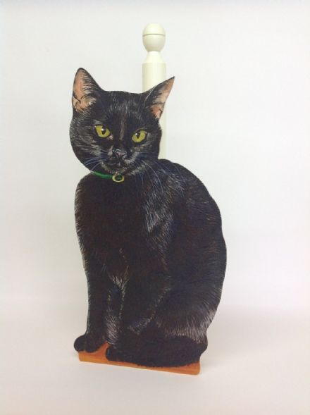 Black Cat Spare Toilet Roll Holder